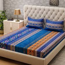 Bombay Dyeing Single Bed Sheets Online India Bombay Dyeing Microfiber Printed Double Bedsheet Buy Bombay