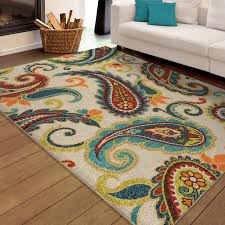 Lime Green Area Rug 8x10 by Orian Rugs Indoor Outdoor Paisley Wyndham Multi Colored Area Rug