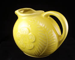Shawnee Pottery Vase Shawnee Pottery Yellow Flower And Fern Kitchenware Ball Jug