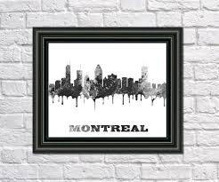 montreal home decor montreal canada paint splashes montreal city outline art