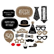 50th birthday party supplies 20 pieces happy 50th birthday party decorations supplies photo