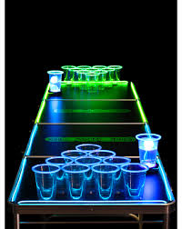 tips beer pong table lights glow pong table infinity beer