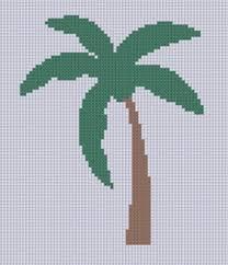 palm tree 2 cross stitch pattern cross stitch stitch and patterns
