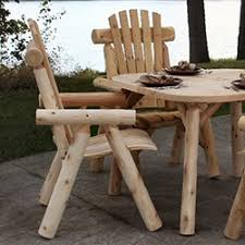 Rustic Patio Tables Rustic Outdoor Furniture Log U0026 Wood Patio Furniture