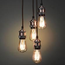 Vintage Light Bulb Pendant Vintage Lighting Copper Pendant