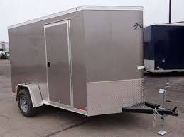 enclosed trailer exterior lights 6 x 12 light pewter metallic enclosed cargo trailer with 2 nose