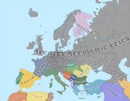 map germnay map of europe in 1965 if germany won world war two by