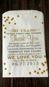 50th anniversary party favors to write on thank you cards pinteres