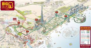 touristic map of map of dubaï tourist attractions sightseeing tourist tour