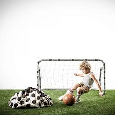 play u0026 go black and white toy storage bag with soccer ball print
