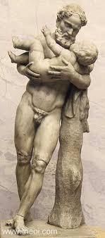 dionysus greek god statue silenus infant dionysus ancient greco roman statue