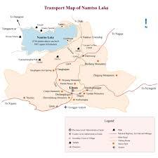 Transport Map Lhasa Namtso Map Transport Map Of Namtso Lake