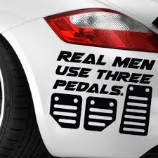 hoonigan cars real life real men use three pedals sticker decal drift stance illest