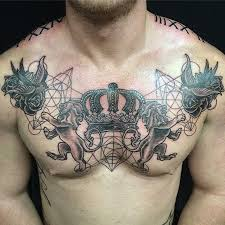 crown on chest crown designs meaning