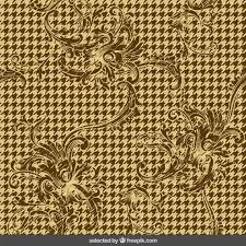 houndstooth background with ornaments vector free