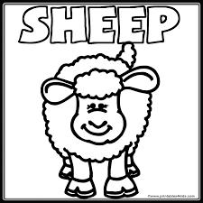 sheep coloring sheet printable sheep coloring pages 20776