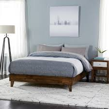 Mid Century Beds Wood Mid Century Platform Style Bed Free Shipping Today