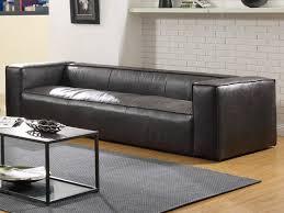 canap 4 places cuir canapés et fauteuil 100 cuir vieilli noir jacob