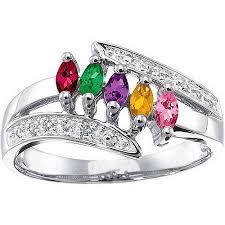 Personalized Keepsake Personalized Keepsake Eva Birthstone Ring Walmart Com
