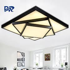 plafonnier pour chambre rc gradation rectangel led plafond le moderne plafonnier pour