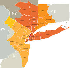 Map Of New York State Counties by New York City Metro Real Estate Jobs Real Estate Job Site
