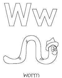 worm free alphabet coloring pages alphabet coloring pages of