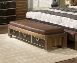 great design ideas with upholstered bench for bedroom
