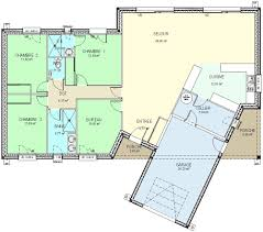 plan maison plain pied 5 chambres construction 86 fr plan maison plain pied de type 5