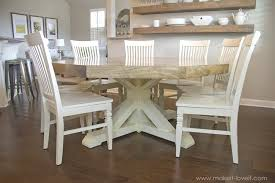 Dining Room Table Seats 8 Diy Octagon Dining Room Table With A Farmhouse Base Make It