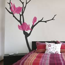 magnolia flower tree decals flower tree wall decal