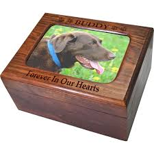 pet urns for dogs memory chest wooden box dog urn with photo window shown engraved