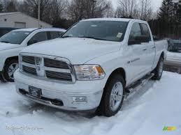 Dodge Ram White - 2011 dodge ram 1500 big horn quad cab 4x4 in bright white 607724
