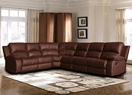 Traditional Sofa Amazon Com Large Classic And Traditional Brown Bonded Leather