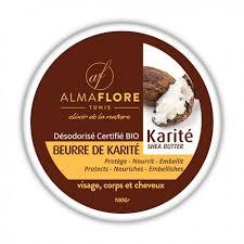 beurre de cuisine cheveux almaflore beurre de karité naturel désodorisé 100 g
