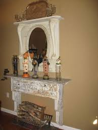 shabby chic fireplace decor junkmarket style