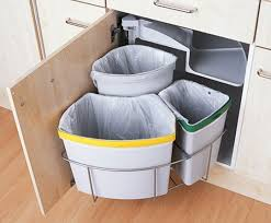 How To Organize Waste In A Small Kitchen Small Spaces Trash - Kitchen cabinet garbage drawer