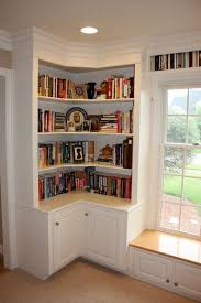Corner Bookshelf Ideas Marvelous Bookshelf Corner Unit 85 For Decorating Design Ideas