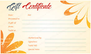 design gift certificate template