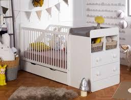 chambre bébé evolutive lit combiné bébé évolutif blanc malte 70x140 chambrekids