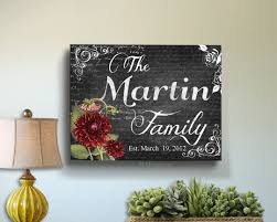 personalized housewarming gifts personalized family name canvas art anniversary christmas
