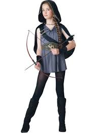 Halloween Costumes Girls Hooded Huntress Costume Party Costume