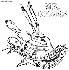 mr krabs coloring pages good spongebob mr krabs coloring pages