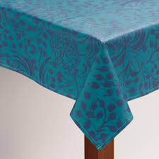 Patio Table Cover With Umbrella Hole Zipper by Floral Underwater Oilcloth Tablecloth World Market