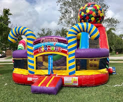 bouncy house rentals candy zone bounce house rentals my florida party rental