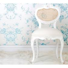provencal heart white chair bedroom chair