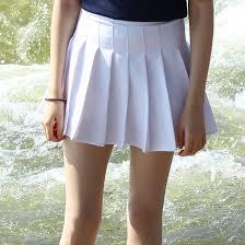 pleated skirt white pleated skirt xs on storenvy