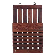amazon com crafts u0027man wooden wall hanging letter organiser rack