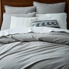 organic washed cotton duvet cover pillowcases platinum west