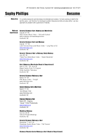How To Create A Job Resume by How To Make A Makeup Artist Resume Free Resume Example And