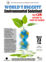 acc hosts discussion on global environmental issues and solutions